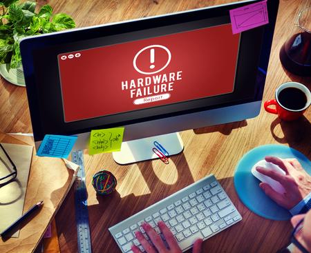 Hardware Failure Network Problem Technology Software Concept Imagens