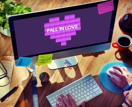 carino: Amor y afecto concepto gr�fico del coraz�n