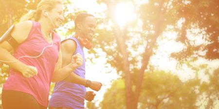 Sport Mensen Run gezonde levensstijl Concept