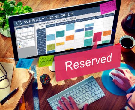Reserviert Privat Restaurant Sitzdienst einrichten Konzept