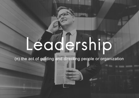 guiding: Leadership Lead Guiding Support Integrity Concept Stock Photo