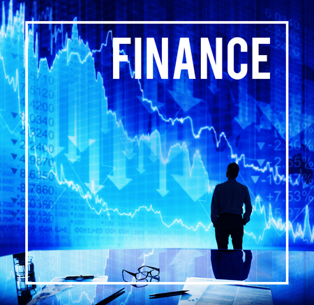 Businessman with financial concept
