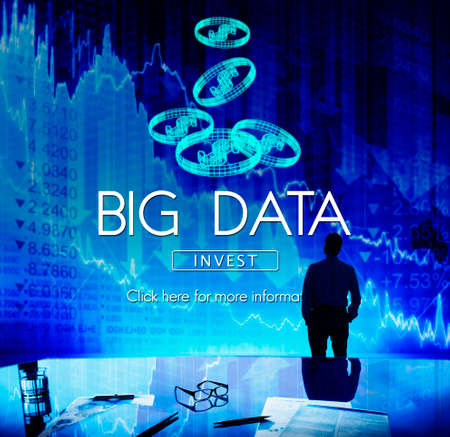 virtual technology: Big Data Digital Information Network Storage Concept Stock Photo