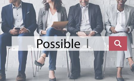 feasibility: Possible Ambition Chance Hope Optimism Option Concept Stock Photo