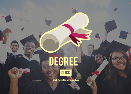 overjoyed: Diploma Degree Graduation Course Education Concept