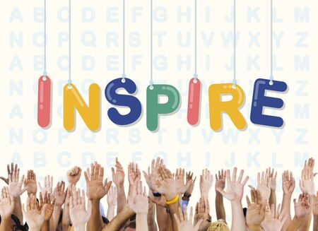 to innovate: Inspire Hopeful Believe Aspiration Vision Innovate Concept Stock Photo