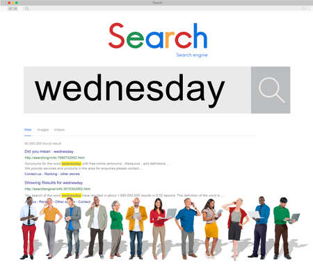 wednesday: Wednesday Day Dates Date Week Weekday Agenda Concept Stock Photo