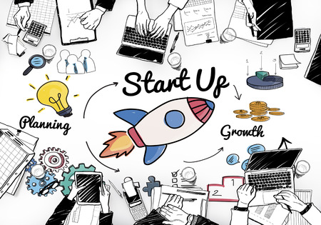 Startup Launch Opportunity Plan Ideas Concept