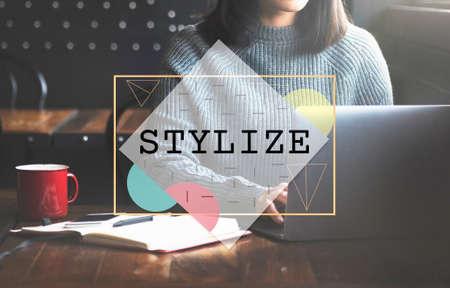 stylize: Stylize Class Design Elegant Hipster Treands Concept Stock Photo