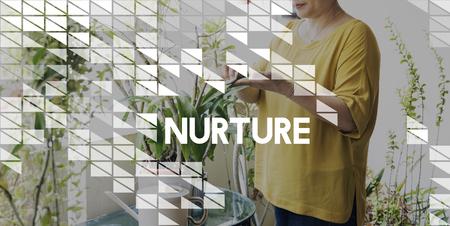 nurture: Nurture Care Support Nutriment Raise Concept