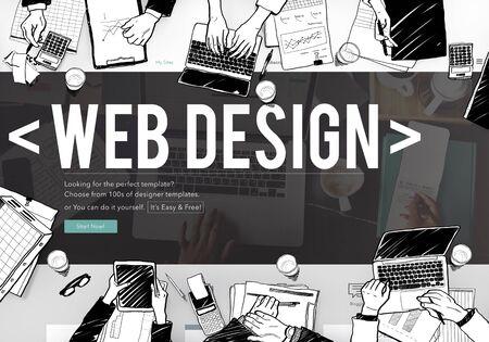 webpage: Web Design Online Webpage Website Connect Concept Stock Photo