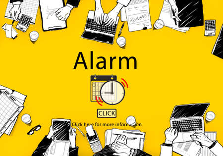 important notice: Alarm Alert Important Notice Schedule Concept Stock Photo