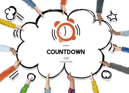 Time Alarm Deadline Countdown Concept Stock Photo