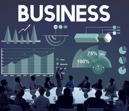 organisation: Business Company Corporate Enterprise Organisation Concept Stock Photo