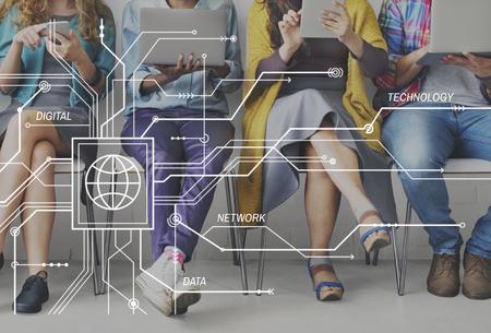 グローバル Communciations グローバル接続技術コンセプト 写真素材