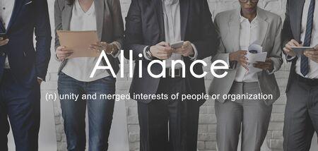 Alliance Team Combine Corporate Partnership Concept Reklamní fotografie
