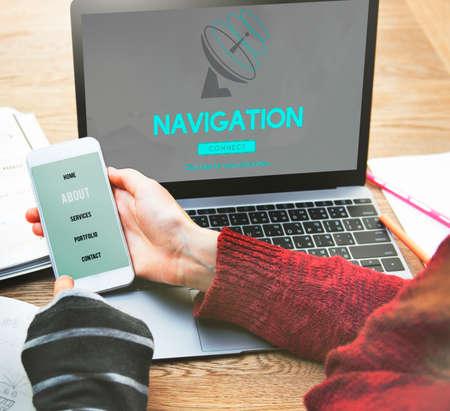 data transmission: Boardcast Data Transmission GPS Navigation Concept