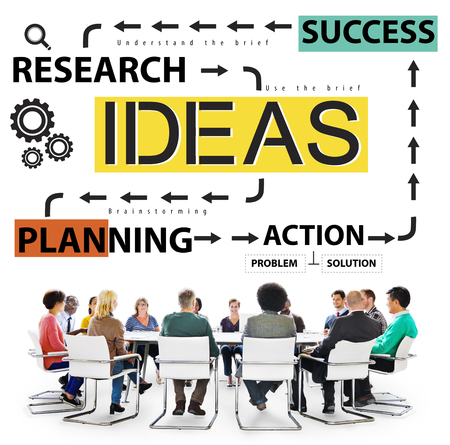 team concept: Ideas Success Planning Action Management Concept
