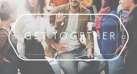 Get Together Friendship integration Support Concept Imagens