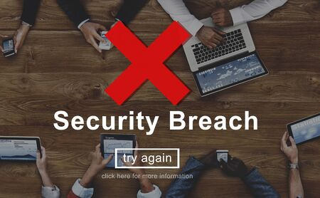 breach: Security Breach Risk Dangerous Hacking Concept