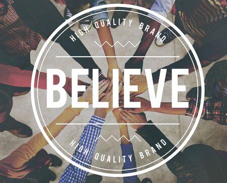 creer: Cree la esperanza creencia Mente concepto del éxito