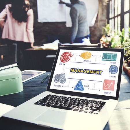 business roles: Management Business Coaching Process Strategy Concept