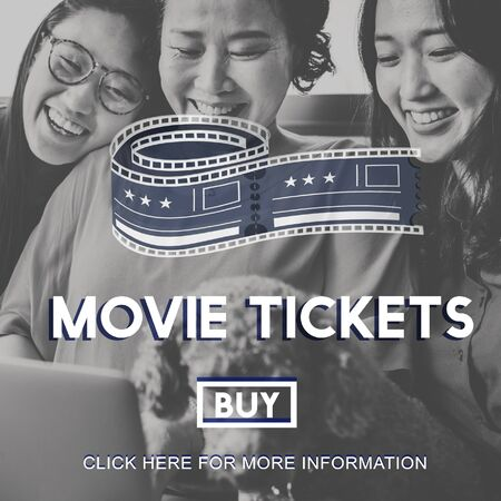 buying: Movie Tickets Buying Entertainment Concept