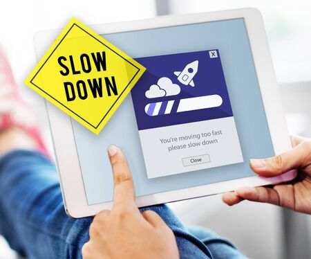keep your hands: Keep Calm Reduce Speed Relax Slow Down Concept Stock Photo