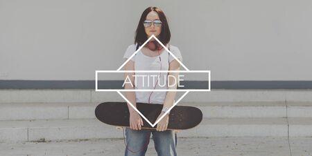 reaction: Attitude Perspective Thinking Ideas Opiniion Reaction Concept