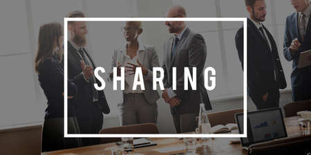 share information: Sharing Share Information Connection Concept