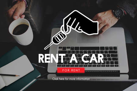 rental: Rent A Car Rental Offer Concept Stock Photo