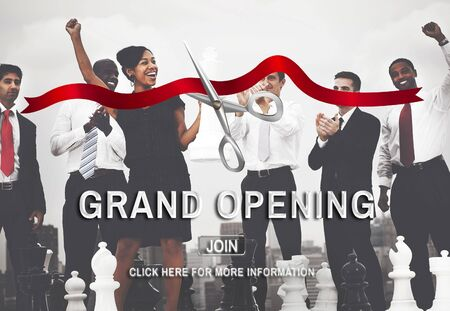 other keywords: Grand Oppening Ceremony Business Join Concept
