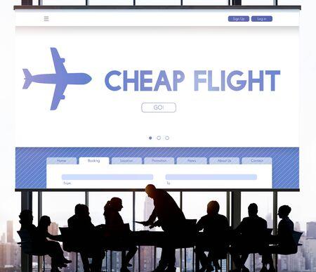 cheap: Cheap Flight Offer Traveling Website Concept