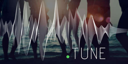 frequency: Tune Frequency Instrument Listening Music Concept