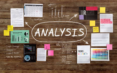 analyse: Analysis Analytics Analyze Research Information Report Concept Stock Photo