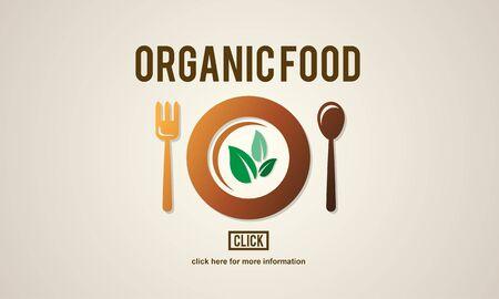 nourishment: Organic Food Healthy Nutritious Green Nourishment Concept