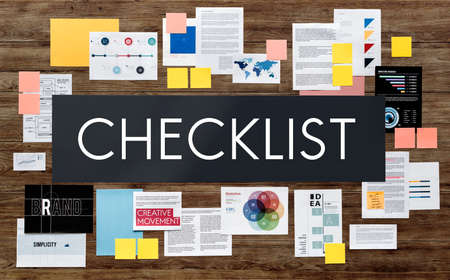 important reminder: Checklist Reminder Important Task Remember Concept Stock Photo