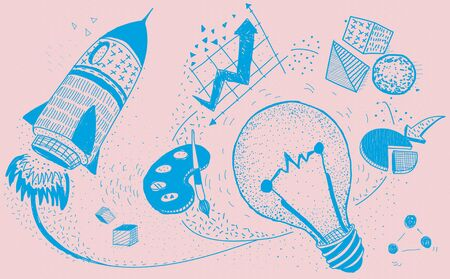 visualise: Ideas Creativity Imagination Light Bulb Concept Stock Photo