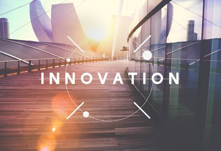be: Innovation Technology Be Creative Futuristic Concept Stock Photo