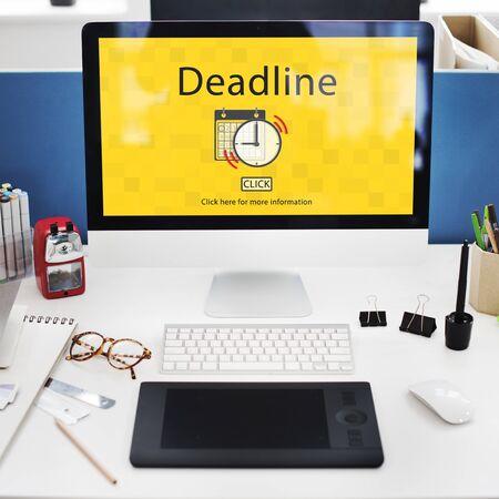 notice: Deadline Target Notice Important Schedule Concept