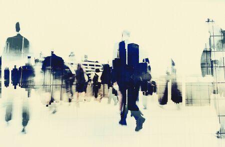 Business People Walking Motion City Concept Reklamní fotografie