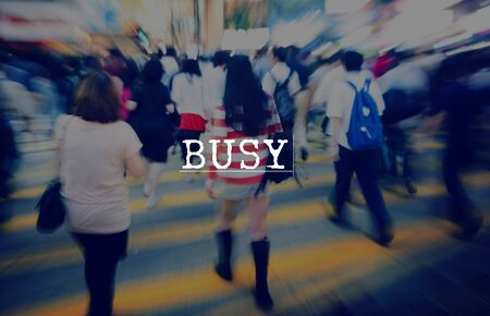 overload: Busy Occupied Overload Multitask Involved Concept Stock Photo
