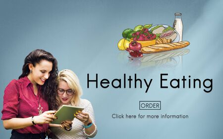 young group: Healthy Eating Food Fresh Natural Organic Concept