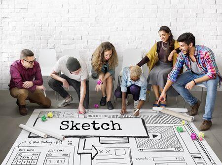 Sketch Ideas Design Conceptualize Plan Concept 版權商用圖片