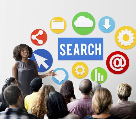net meeting: Seo Search Engine Optimization Searching Concept Stock Photo
