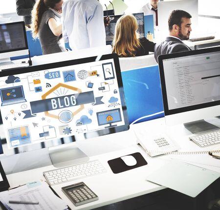 blogging: Blog Blogging Website Web Page Concept