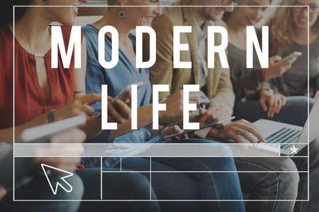 socialise: Modern Comunication Blog Connect Website Concept