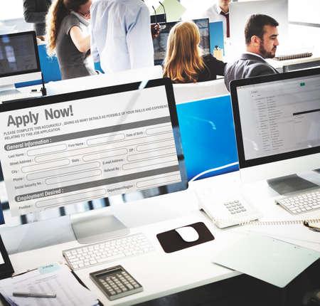 online form: Online Web Job Application Form Concept