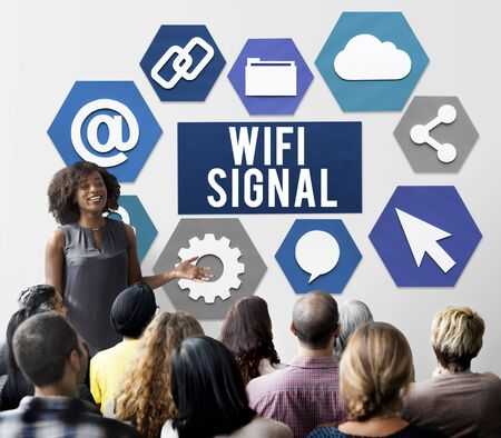 intern: Wireless Signal Reception Mobility Graphic Concept
