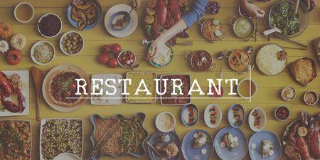 visitador medico: Reataurant Dinner Brunch Lunc Catering Concept Foto de archivo
